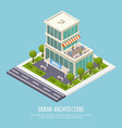 urban architecture isometric background vector image vector image