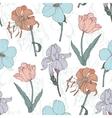 Vintage Flowers Pastel Seamless Pattern vector image vector image