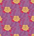 Vintage Rose Seamless Pattern vector image vector image