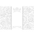 Wedding invitation cards vector image vector image