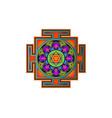 yantra mandala colorful sacred geometry tibetan vector image vector image