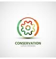 Gear company logo business concept vector image