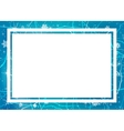 Frame of ice Winter frame vector image