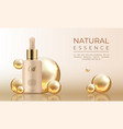 3d realistic cosmetic mockup skin care oil vector image