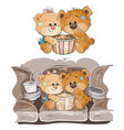 a couple brown teddy vector image