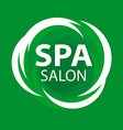 Abstract logo for Spa salon on a green background vector image vector image