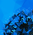 abstract polygonal blue background explosion of 3d