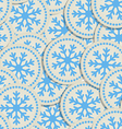 Abstract snowflakes seamless background vector image vector image