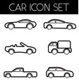 auto icon set vector image vector image
