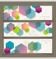 banners with abstract geometricbackground from vector image vector image