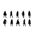 black color silhouettes woman vector image vector image