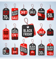 black friday pricing tags and promotion labels vector image vector image