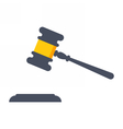 Black gavel judge vector image vector image