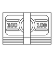 Bundle of money icon outline style vector image vector image