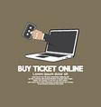 Buy Ticket Online Concept vector image