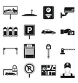 Car parking icons set simple style vector image
