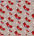 christmas socks pattern vector image vector image