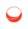 circle curves geometric simple motion logo vector image vector image