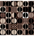Coffee pattern in geometric style vector image vector image