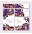 collection of decorative floral greeting cards in vector image vector image