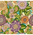 Colored seamless hand drawn patterns with abstract vector image