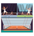 couple of players tennis characters vector image vector image
