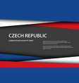 czech colors and free grey space for your text vector image vector image