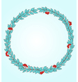Decorative round floral frame vector image