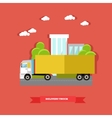 delivery truck road vector image vector image