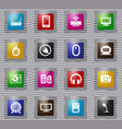 devices glass icons set vector image vector image