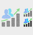 dot people growing chart icons vector image vector image
