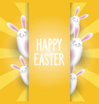 easter background with cute bunnies vector image vector image