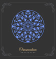 eastern silhouette of a round ornament floral vector image