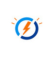 electric light bolt icon logo vector image