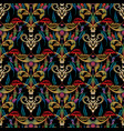 embroidery style baroque seamless pattern vector image