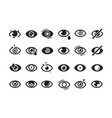 eyes symbols closed opening eye human parts vector image vector image