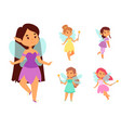 fairies princess fairy girl character cute vector image