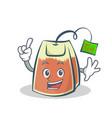 finger tea bag character cartoon vector image vector image