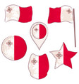 flag of the malta performed in defferent shapes vector image vector image