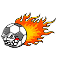 Flaming ball vector image vector image