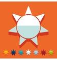 Flat design sun vector image vector image