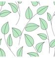 Floral ornamental doodle pattern vector image