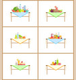 food and drinks still life composition for photo vector image vector image
