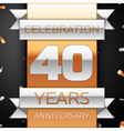 Forty years anniversary celebration golden and vector image vector image