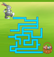 game rabbit maze find way to the egg vector image vector image