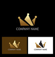gold crown logo vector image vector image
