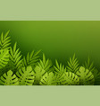 green summer tropical leaves paper cut style vector image vector image