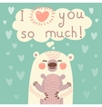 Greeting card for the bear mother and cub vector image vector image