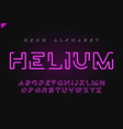helium futuristic linear neon alphabet vector image
