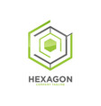 hexagon - logo concept vector image